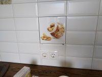 Фотоплитка для кухонного фартука. Плитка 20х20см.