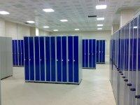 Металлические гардеробные шкафы для фитнеса и спортивных раздевалок
