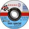 1111250 DRONCO AS 46 Inox отрезной круг по металлу 115х1,6х22,23