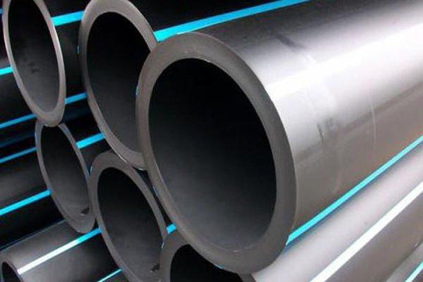 труба ПНД ПЭ 100 225 мм ст.12,8 мм техническая с синей полосой