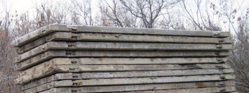 Плита дорожная паг 6000 х 2000 б/у жби.