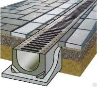 Лоток водоотводной ЛВ- бетонный, DN100