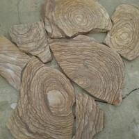 Камень пластушка натуральный песчаник Шкура тигра