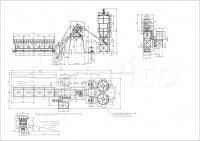 Бетонный завод HZS40 (HZS45, HZS35)