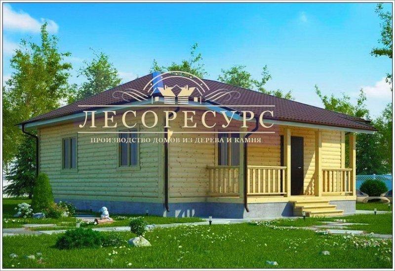 """Одноэтажный дом из бруса - """"Черкизово"""""""
