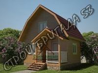 Двухэтажный брусовый дом 5*4 d2