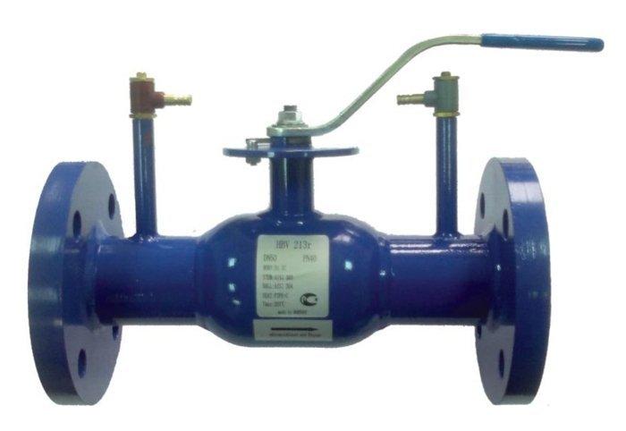 Кран линейно регулирующий, шаровой,  фланцевый, Ду080, Ру16, КШП тип HBV113r, Ст. 20