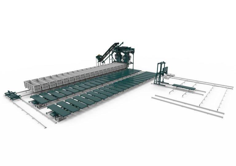 Конвеерная линия для производста газобетона с пильным комплексом ЧПУ РТМ-150КА