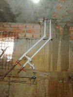 Монтаж стояков отопления и в/с до D 32 мм