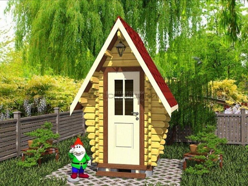 Уличный туалет из бруса 1,3х1,5 «Букингем»