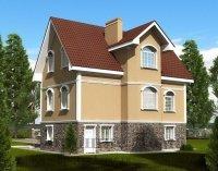 Строительство дома из газобетона 8. 7x11. 5 192. 7 кв. м.