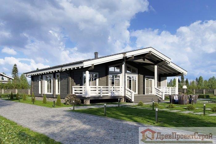 Проект дома № 337. Дом из клееного бруса 185 х 200 мм, 213,50м². Размеры 14940 х 14500.
