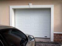 Ворота 2,75*2,215 секционные серии RSD01SС №5 ширина 2750 высота 2215 белые