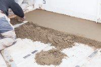 Бетонные полы. Устройство цементно-песчанной стяжки.