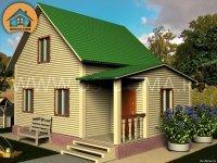 """Каркасный дом 6x8 м. проект: """"Белоостров"""""""