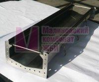 лоток водоотводный КМ IRON 200 из нержавеющей стали с фланцевым соединением