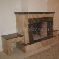 Камины из натурального камня - мрамора, гранита