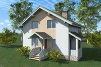 Одноэтажный жилой дом с мансардой 100м2