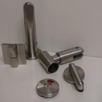 Steelka. Фурнитура нержавеющая  кабин туалетных из hpl пластика или ЛДСП, склад, замки с индикатором