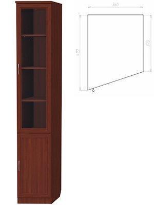 Шкаф для книг (левая консоль) (Цвет-Итальянский орех)