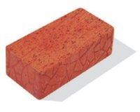 Кирпич керамический полнотелый одинарный М-150, ГОСТ 530-2012