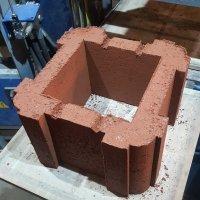 блок керамзитобетонный столбовой декоративный