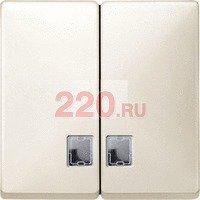 Клавиша двойная с/п (термопласт) выключателя (переключателя, кнопки) двухклавишного Бежевая, Merten SD - SCMTN413544