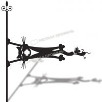 Указатель ветра большой 202 «Кот и мышь»