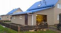 Каркасный гараж для дачи