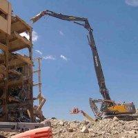 Аренда экскаватора разрушителя, демонтаж зданий