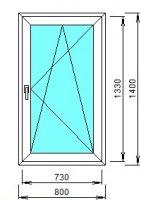 Окно 800*1400 (32 мм)