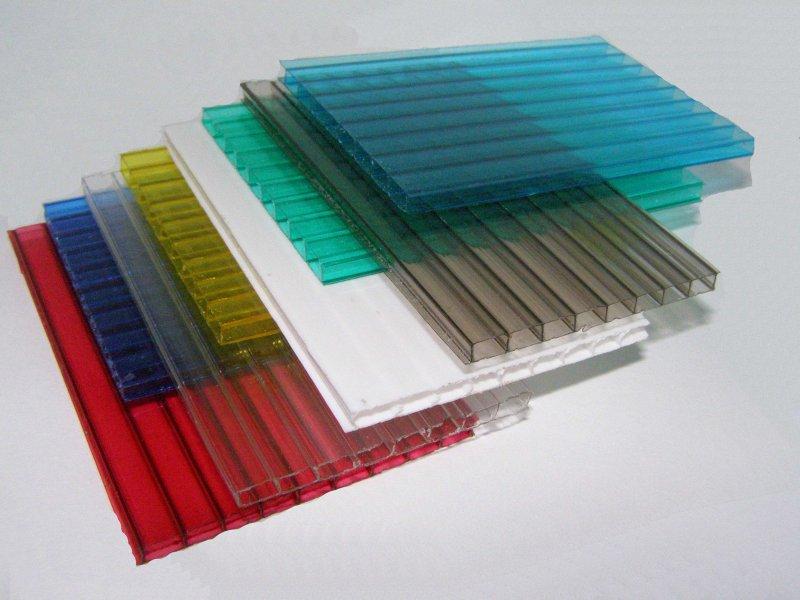 Сотовый поликарбонат 6 мм. цветной