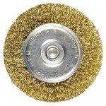 Щетка для дрели, 75 мм, плоская со шпилькой, латунированная витая проволока MATRIX 74448