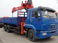 Манипулятор КАМАЗ 65117 борт 10 тонн