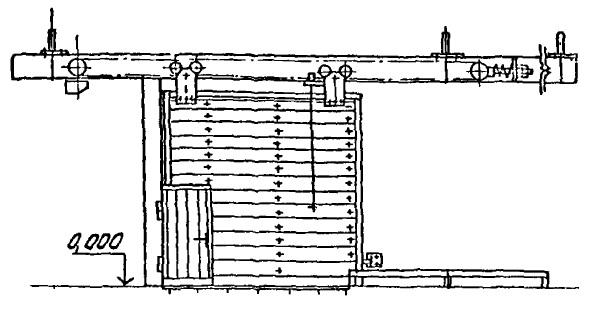 Ворота откатные с электроприводом серия 1.435.9-36.93, серия 1.435.9-24