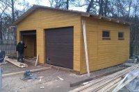 Строительство гаражей.