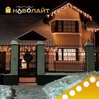 Освещение фасадов светодиодными гирляндами в Ростове-на-Дону и области