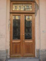 Входная уличная  историческая из массива дуба по чертежам ГИОП,историческая, Фурнитура ЛАТУНЬ