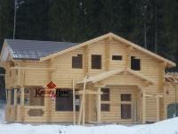 Дома из оцилиндрованного бревна. Строительство