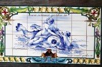панно готический дельфин и богиня