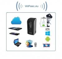Всепогодная беспроводная WiFi видеокамера на аккумуляторе с DVR, HD 960p
