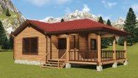 Каталог 50 эскизных проектов деревянных домов