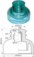 Изолятор ШС 20-ЕД штыревой стеклянный