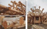 Ручная рубка домов и бань из зимнего леса (ангарская сосна и сиб.лиственница)