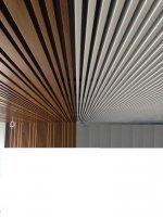 Дизайнерский кубообразный реечный потолок