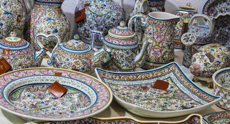 посуда ручной росписи из Португалии копии 15-19 века