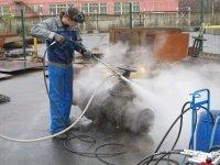 Помывочный аппарат высокого давления с пескоструйной насадкой