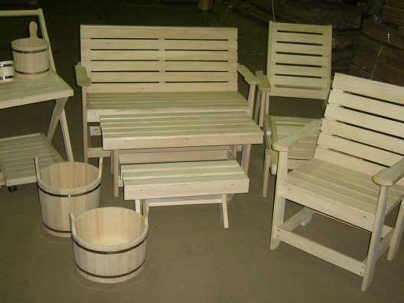 Мебель из липы для бань и саун.