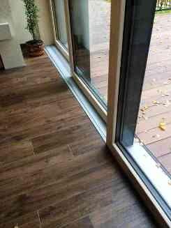 Раздвижные дереволюминиевые двери