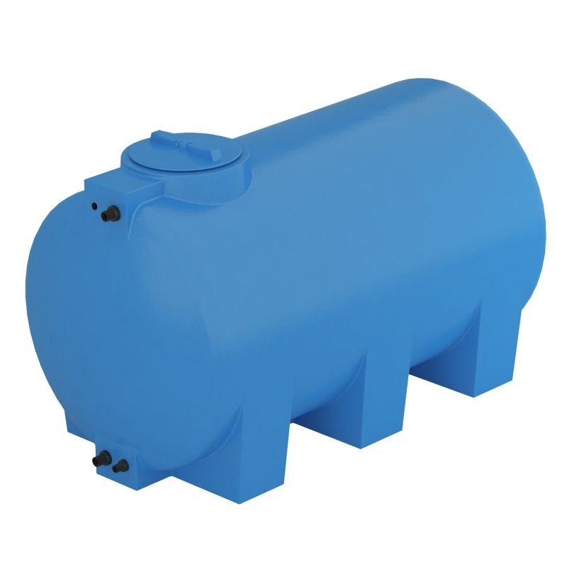 Бак для воды, ATH 1500, синий, с поплавком